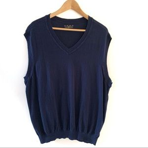 Blue Sweater Vest Club Room Mens Vneck 2XB